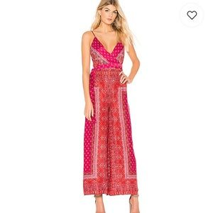 Free People Cabbage Rose Jumpsuit-Size M